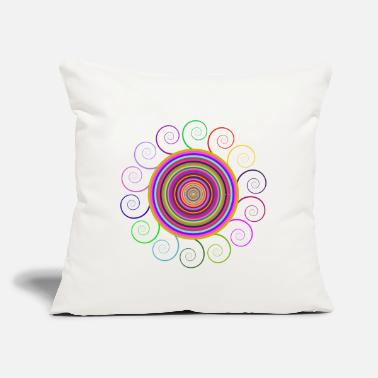 "Circular Circular rainbow - Throw Pillow Cover 18"" x 18"""