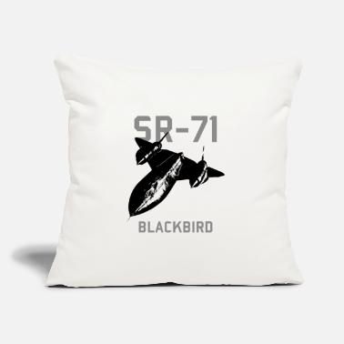 "Jet SR 71 Blackbird Spy Plane - Throw Pillow Cover 18"" x 18"""