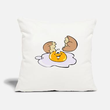 "Egg egg - Throw Pillow Cover 18"" x 18"""