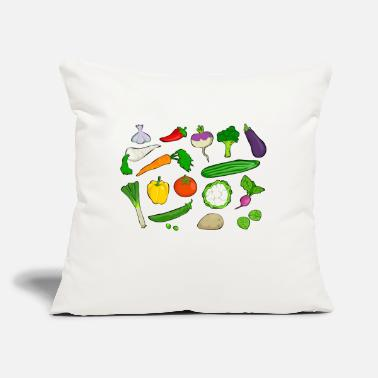"Vegetable vegetables - Throw Pillow Cover 18"" x 18"""