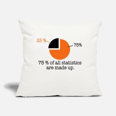 "Statistics statistics - Throw Pillow Cover 18"" x 18"""