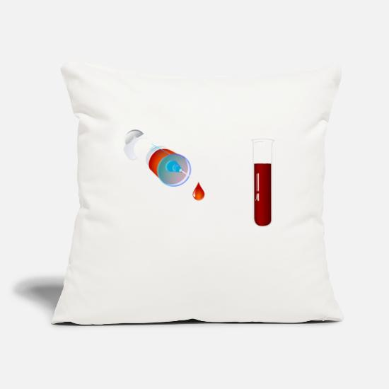 "Blood Pillow Cases - blood - Throw Pillow Cover 18"" x 18"" natural white"