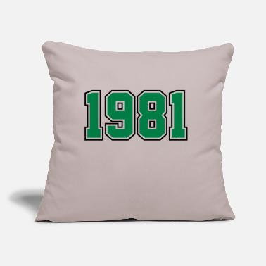 "Year Of Birth 1981 | Year of Birth | Birth Year | Birthday - Throw Pillow Cover 18"" x 18"""