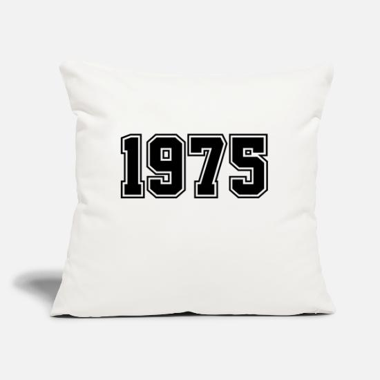 "Birthday Pillow Cases - 1975 | Year of Birth | Birth Year | Birthday - Throw Pillow Cover 18"" x 18"" natural white"