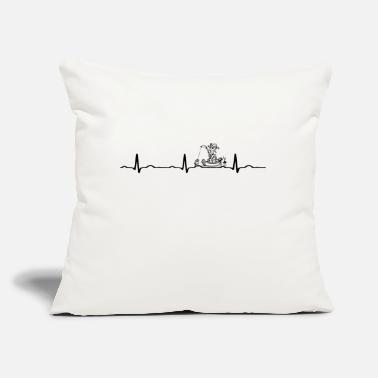 "GIFT - ECG FISHING BLACK - Throw Pillow Cover 18"" x 18"""