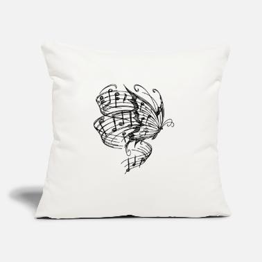"BUTTERLFY MUSIC NOTES - Throw Pillow Cover 18"" x 18"""