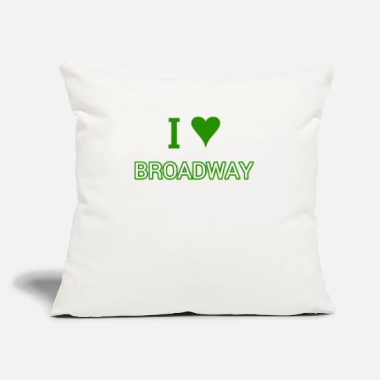 "Broadway Pillow Cases - I Love Broadway T Shirt -Plays-Theater Lover Shirt - Throw Pillow Cover 18"" x 18"" natural white"