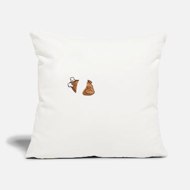 "Bigfoot Thanksgiving Day Funny Thanksgiving Bigfoot Turrkey T-shirt - Throw Pillow Cover 18"" x 18"""
