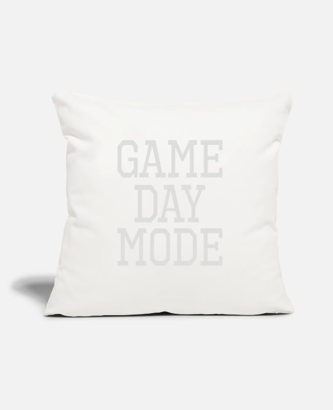 "Modern Dance Pillow Cases - Game Day Mode - Throw Pillow Cover 18"" x 18"" natural white"