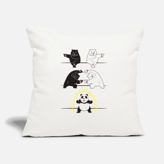 "Panda Pillow Cases - Bear fusion - Throw Pillow Cover 18"" x 18"" natural white"