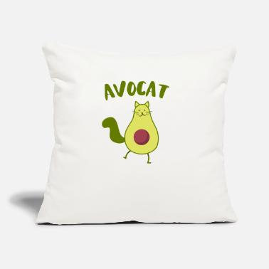 "Funny avocat sweet avocado cats fish gift - Throw Pillow Cover 18"" x 18"""