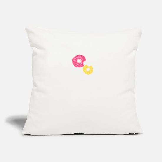 "Crazy Eights Pillow Cases - Crazy Donuts - Throw Pillow Cover 18"" x 18"" natural white"
