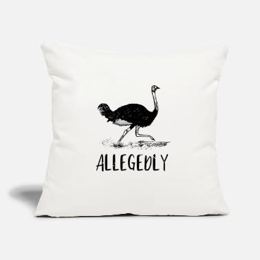 "Ostrich Allegedly Ostrich Vintage - Throw Pillow Cover 18"" x 18"""