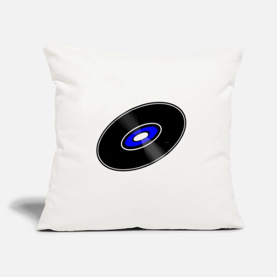 "Record Pillow Cases - Record Vinyl - Throw Pillow Cover 18"" x 18"" natural white"