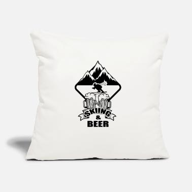 "Ski Holidays Ski Skiing Skier Ski club Ski holidays - Throw Pillow Cover 18"" x 18"""