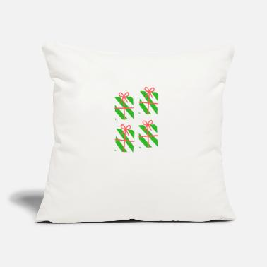 "Present Christmas present gift - Throw Pillow Cover 18"" x 18"""