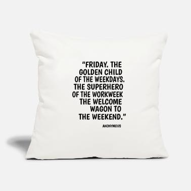 "Weekend Friday weekend Monday superhero party gift - Throw Pillow Cover 18"" x 18"""