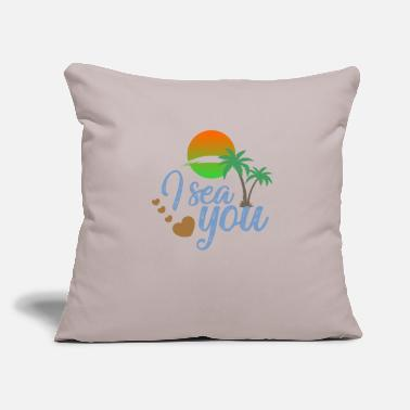 "Sea Noise I sea you - Throw Pillow Cover 18"" x 18"""
