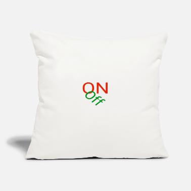 "Off On / off - Throw Pillow Cover 18"" x 18"""