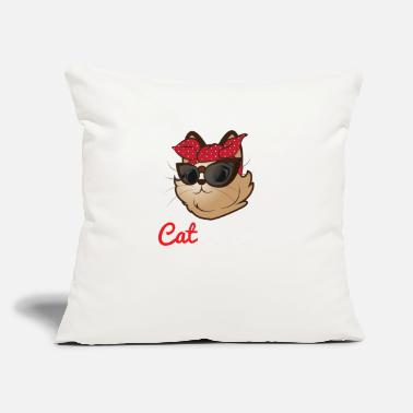 "Cat Mom Cat Mom - Cat Mom Shirt - Gifts for Cat Mom - Throw Pillow Cover 18"" x 18"""