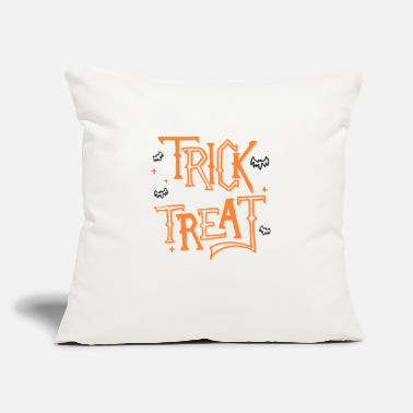 "Treat Trick or Treat. - Throw Pillow Cover 18"" x 18"""