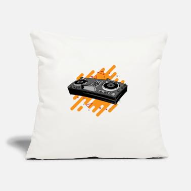 "Turntable DJ Turntables - Throw Pillow Cover 18"" x 18"""