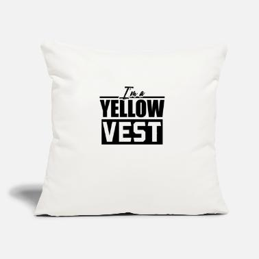 "Yellow Yellow Vest Yellow Vest Yellow Vest Yellow Vest - Throw Pillow Cover 18"" x 18"""