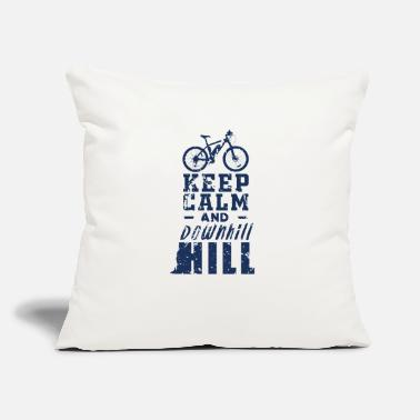 "Downhill Downhiller - Throw Pillow Cover 18"" x 18"""