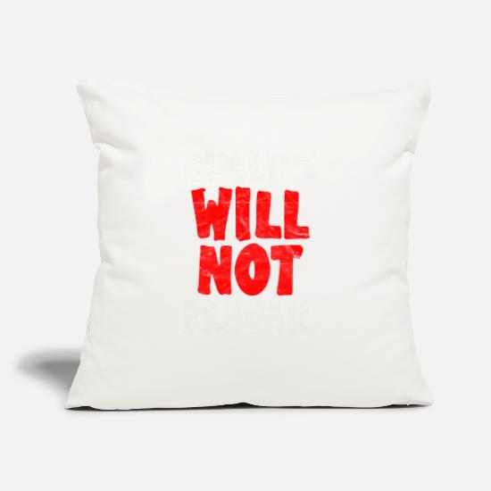 "Bully Pillow Cases - ANTI BULLY - Bullies Will Not Prevail - Throw Pillow Cover 18"" x 18"" natural white"