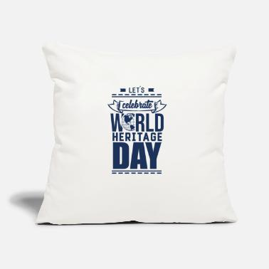 "Heritage World Heritage Day World Heritage Day - Throw Pillow Cover 18"" x 18"""