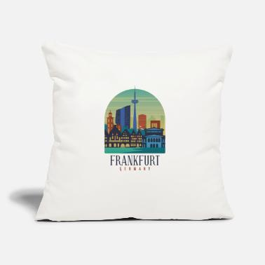 "Frankfurt FRANKFURT SKYLINE GERMANY - Throw Pillow Cover 18"" x 18"""