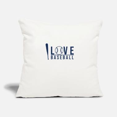 "Players Baseball Player - Throw Pillow Cover 18"" x 18"""