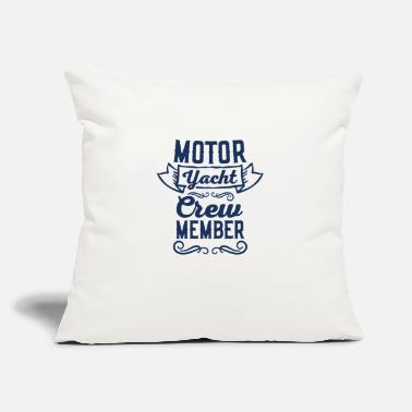 "Motor Motor Yacht Motor Yacht Motor Yacht Motor Yacht - Throw Pillow Cover 18"" x 18"""