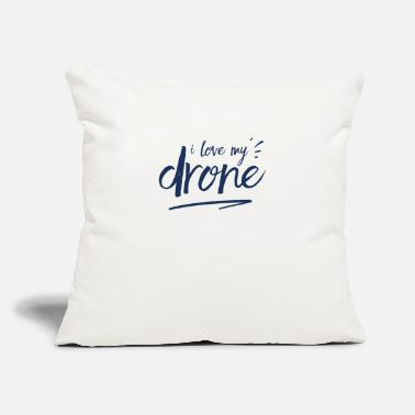 "Remote Control Remote-Controlled Drone - Throw Pillow Cover 18"" x 18"""