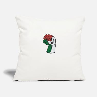 "Strip Freedom Fist Free Palestine - Throw Pillow Cover 18"" x 18"""
