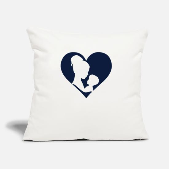 "Gift Idea Pillow Cases - Mother's Day Mother Mama Gift Tshirt - Throw Pillow Cover 18"" x 18"" natural white"