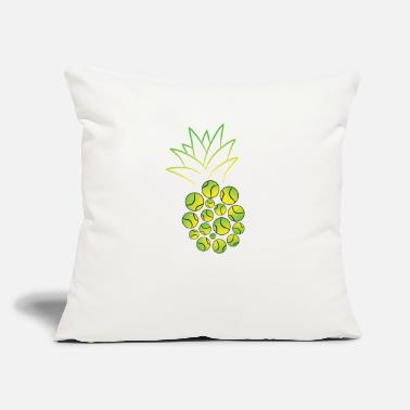 "Tennis Tennis Tennis Ball Pineapple Tennis Player Gift - Throw Pillow Cover 18"" x 18"""