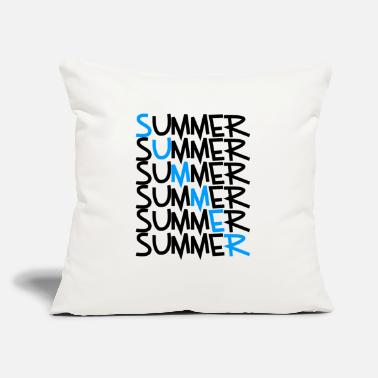 "Summer Summer Summer Summer Summer Summer Summer Summer - Throw Pillow Cover 18"" x 18"""
