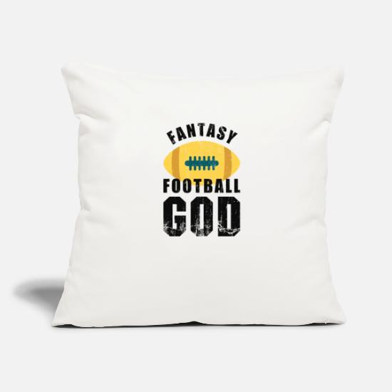 "American Football Pillow Cases - Fantasy Football God - Throw Pillow Cover 18"" x 18"" natural white"