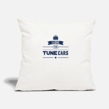 "Tune Cars Car tuning Mechanic Car Tuner Hobby - Throw Pillow Cover 18"" x 18"""