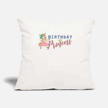 "Unicorn Birthday Princess dabbing unicorn cute matching - Throw Pillow Cover 18"" x 18"""