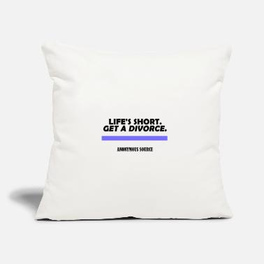 "Lifeshort Funny quote - Throw Pillow Cover 18"" x 18"""