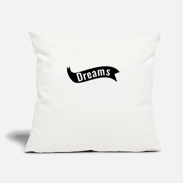 "Vision Dreams Motivation Tshirt - Throw Pillow Cover 18"" x 18"""