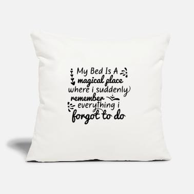"Bed Bed is a - Throw Pillow Cover 18"" x 18"""