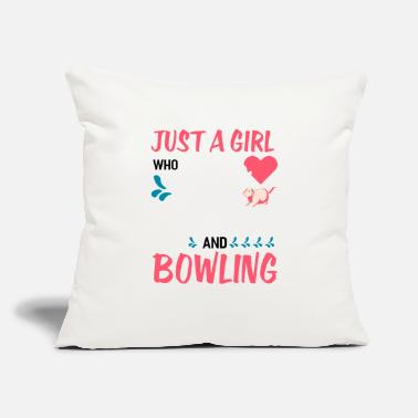 "Strike Just A Girl Who Loves Otters And Bowling - Throw Pillow Cover 18"" x 18"""