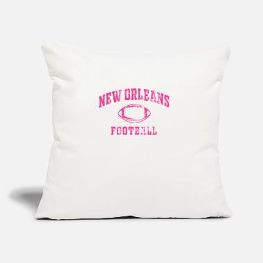 "Footbal Vintage Breast Cancer Awareness Month New Orleans - Throw Pillow Cover 18"" x 18"""
