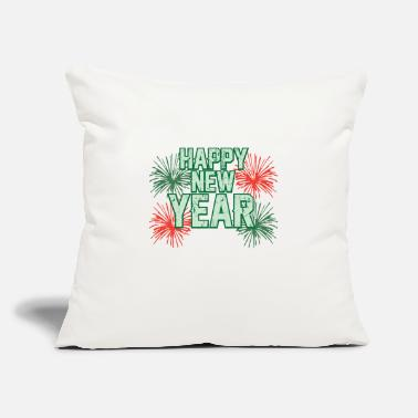 "Missile HAPPY NEW YEAR - Throw Pillow Cover 18"" x 18"""