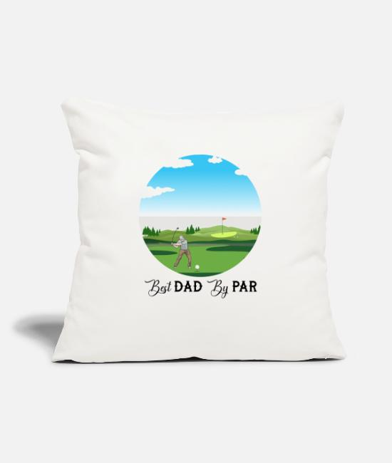 "New Fathers Day Pillow Cases - Best Papa By Par Father s Day Shirts Men Birthday - Throw Pillow Cover 18"" x 18"" natural white"