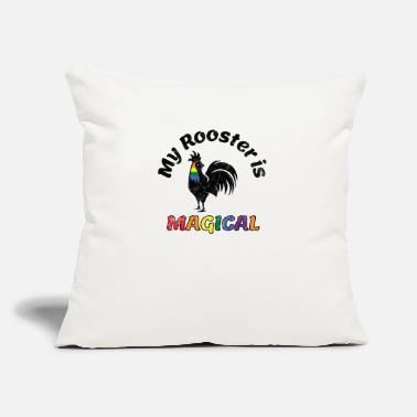 "Community Gay Pride Parade Magical Rooster Funny LGBTQ - Throw Pillow Cover 18"" x 18"""