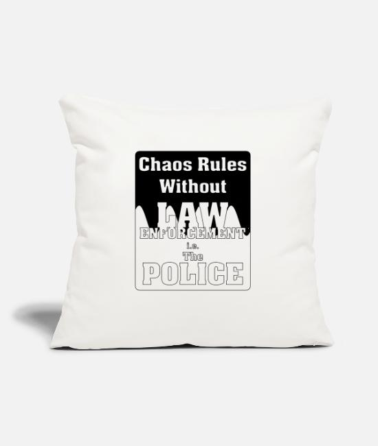 "Order Pillow Cases - Chaos Rules Wthout Law - Throw Pillow Cover 18"" x 18"" natural white"